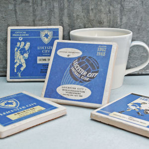 Set Of Four Ceramic Football Team Coasters All UK Teams - placemats & coasters