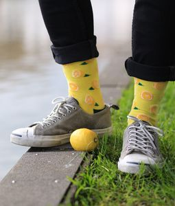 Unisex Lemon Socks - women's fashion