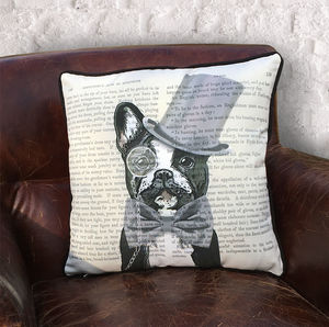 French Bulldog Cushion, Formal Dog Collection