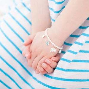 Mini Create Your Own Personalised Sterling Bracelet - christening gifts