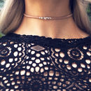 Ava Opal Suede Choker Necklace