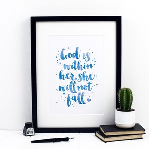 God Is Within Her She Will Not Fall Print