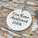 Personalised Ceramic Christening Keepsake Decoration