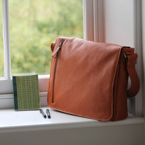 Large Men's Leather Messenger - bags
