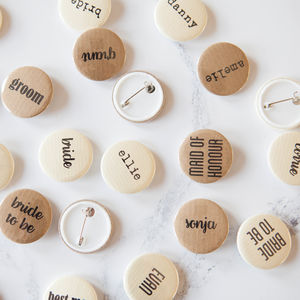 Personalised Name Badge - wedding favours