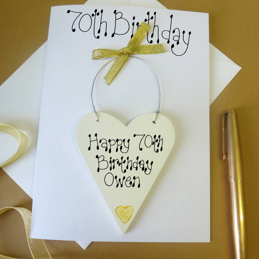Personalised 70th Birthday Card By Country Heart