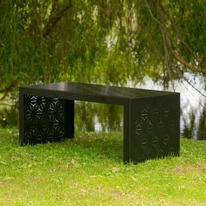 Geometric Pattern Metal Garden Coffee Table - gifts for couples