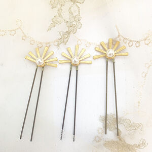 Violet Gold Star Hair Pins