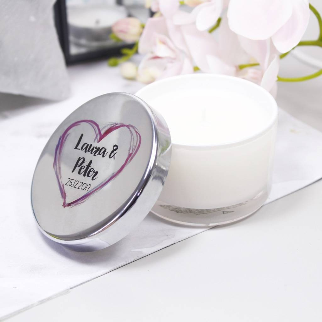 Mini Scented Travel Candle With Lid For Couples By Olivia