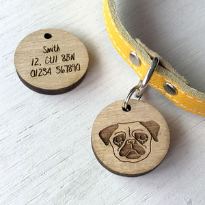 Personalised Wooden Pet Name Tag