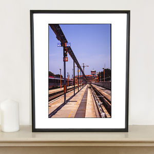Deserted Train Station Photographic Art Print