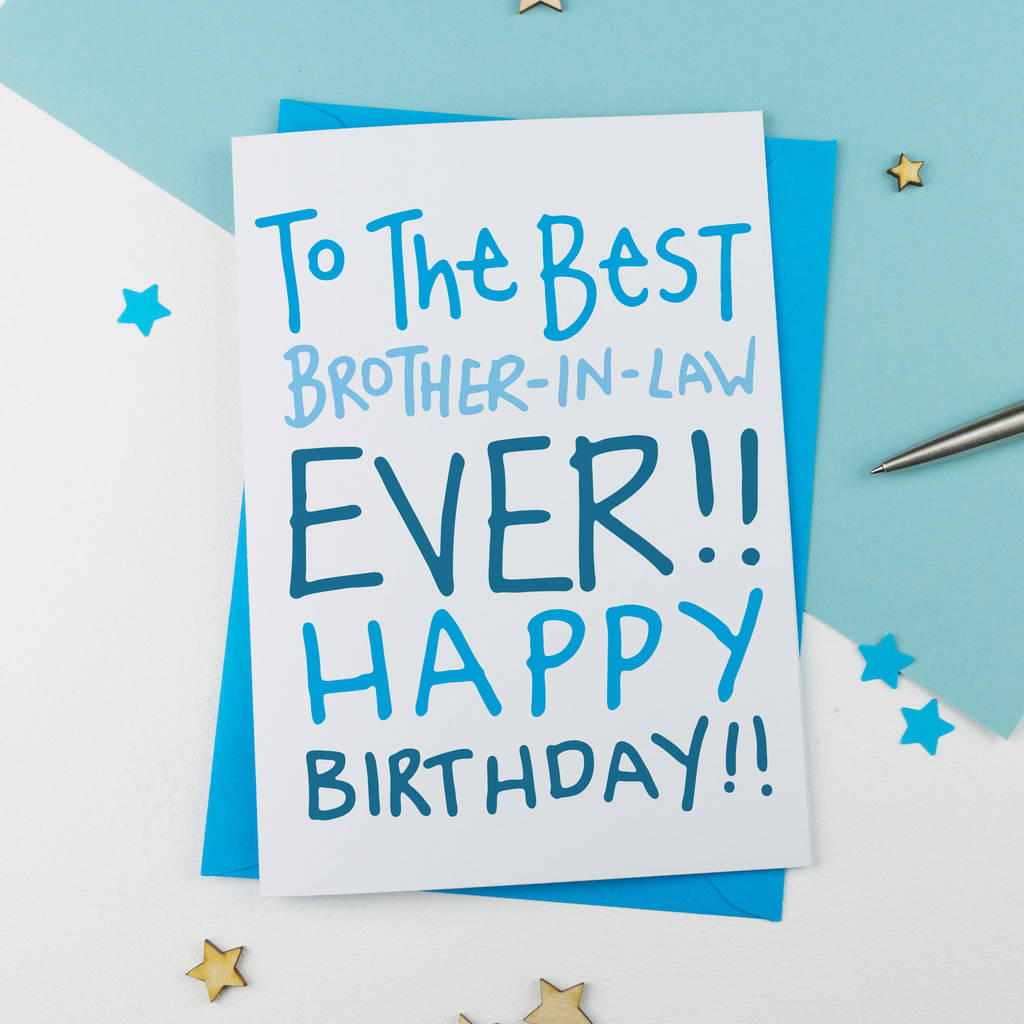 Birthday Card For Brother In Law By A Is Alphabet