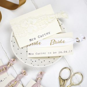 Personalised Bride Hair Ties
