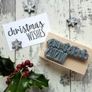 Christmas Wishes And Season For Believin' Rubber Stamps