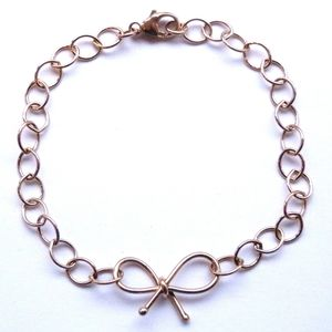 9ct Rose Gold Bow Bracelet