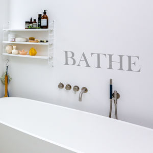 'Bathe' Wall Sticker