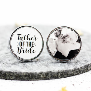 Personalised 'Father Of The Bride' Wedding Cufflinks - jewellery sale