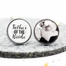 Personalised 'Father Of The Bride' Wedding Cufflinks