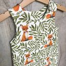 Fox And Leaves Organic Romper