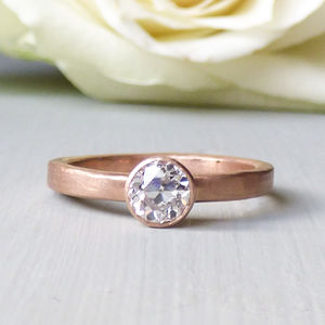 Rose 18ct Fairtrade Rose Gold Ethical Engagement Ring - engagement rings