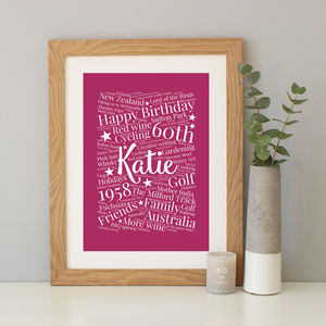 Personalised 60th Birthday Gift - personalised sale