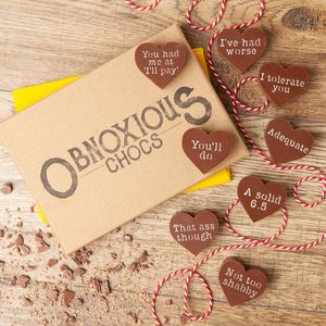 'Obnoxious Chocs' Chocolate Gift Box - best valentine's gifts for him
