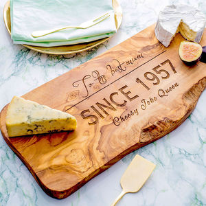 Personalised Wooden Chopping Or Cheese Board - housewarming gifts