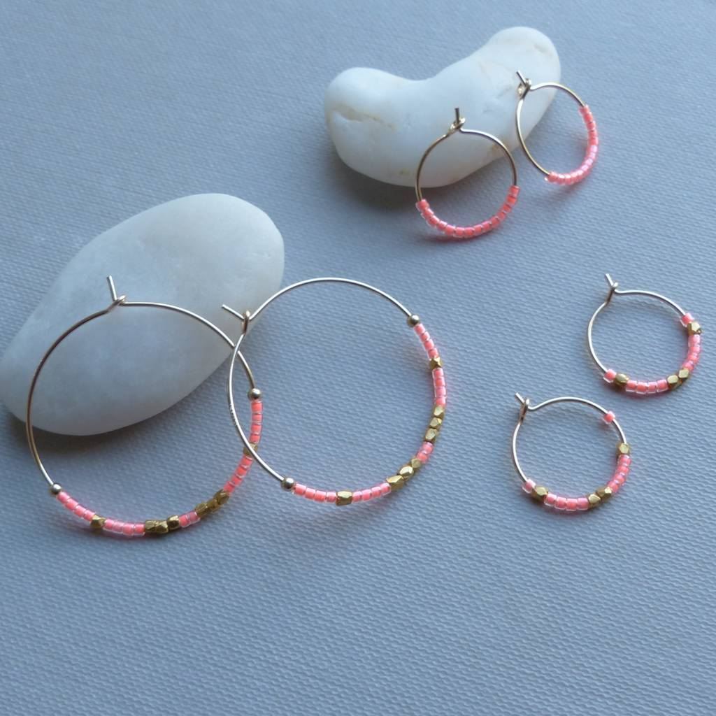 Neon Fair Trade 30mm Hoop Earrings In Many Colours