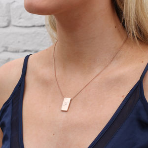 18ct Gold Or Sterling Silver Initial Tablet Necklace - for her