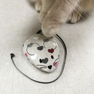 Catnip Heart Mouse Cat Toy