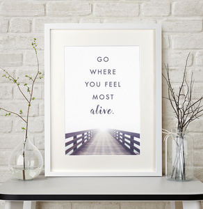 Personalised Landscape Quote Print