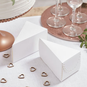 White Scalloped Edge Wedding Day Cake Boxes - wedding favours