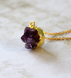 Children's Mini Amethyst Stone Necklace - children's jewellery
