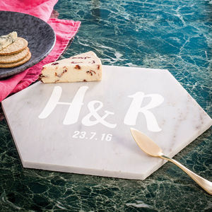Personalised Couples Marble Serving Board - for the couple