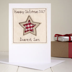 Personalised Star Christmas Card - cards