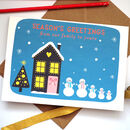 Snowman Family Personalised Christmas Card