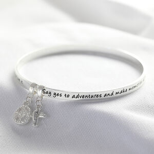 'Adventure' Meaningful Word Bangle