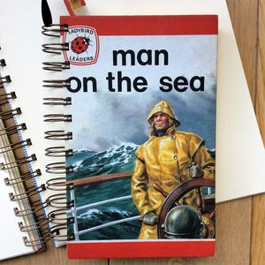 'Man On The Sea' Upcycled Notebook