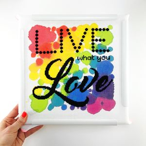 'Live What You Love' Modern Cross Stitch Kit