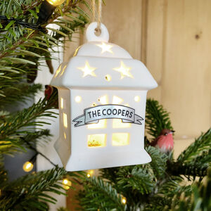 Personalised Lit House Christmas Tree Bauble