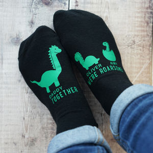 Personalised Daddy Dinosaur Socks - father's day gifts