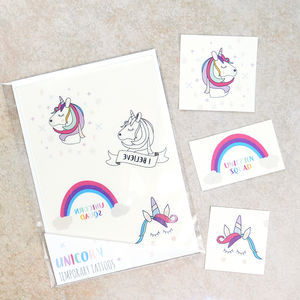 Unicorn Temporary Tattoos - new in health & beauty