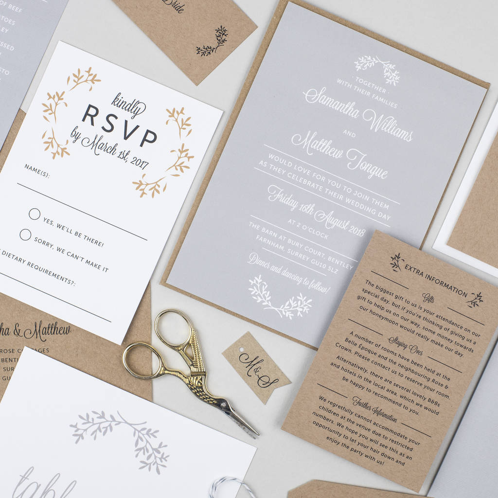 perfect day wedding invitation by pear paper co ...