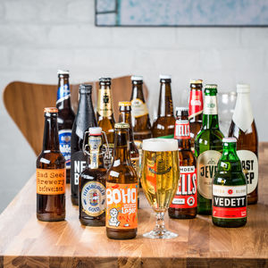 14 Award Winning World Lagers And Tasting Glass - wines, beers & spirits