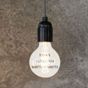 Personalised 'I Love You' Globe Filament Light Bulb - lighting