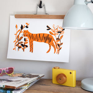 'Our Little Tiger' Illustrated Tiger Children's Print - children's pictures & paintings