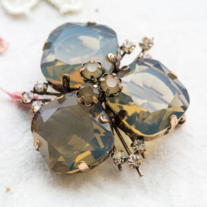 Three Stone Chunky Brooch - more