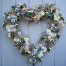 Winter Moss And Berry Heart Wreath