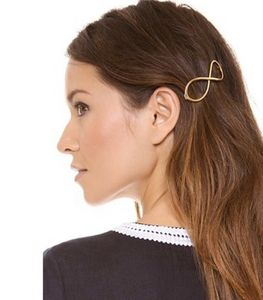 Gold Infinity Hair Clip - hair accessories