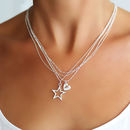 Personalised Multi Chain Star Necklace
